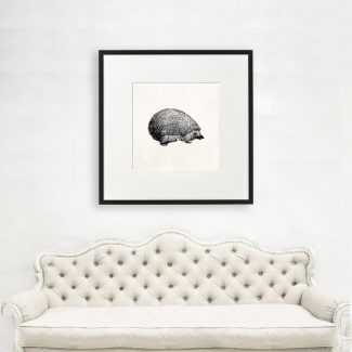 Hedgehog Wall Art, Large Animal Wall