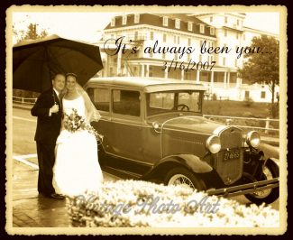 10 Year Anniversary Custom Metal Photo Print Gift For Ten Year Anniversary Gift For Couple Vintage Style