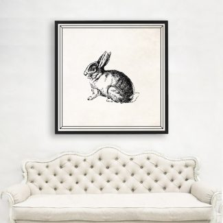 Rabbit Wall Art, Large Rabbit Wall