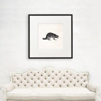 Lemur Wall Art, Large Animal Wall