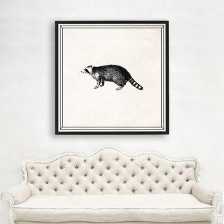 Ring Tailed Lemur Art, Large Animal