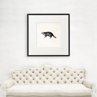 Ring Tailed Lemur Art, Large Animal