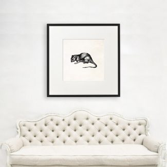 Mouse Wall Art Gift, Large Animal