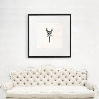 Scorpion Art, Large Scorpion Wall Art, Scientist Gift,