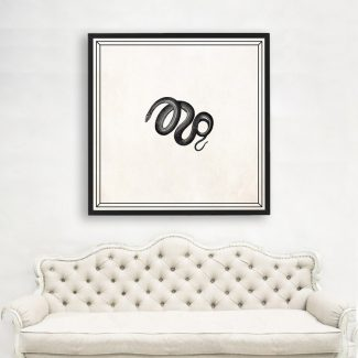 Snake Wall Art, Large Reptile Wall
