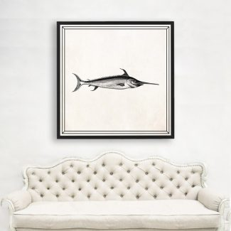 Swordfish Wall Art, Large Fish Wall