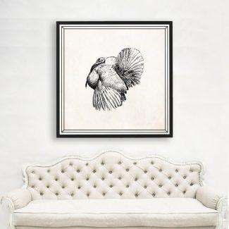 Turkey Wall Art, Large Bird Wall