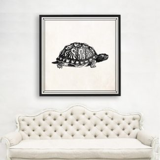 Tortoise Wall Art, Large Animal Wall