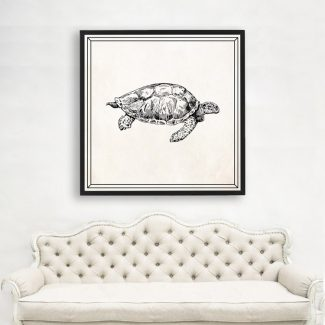 Tortoise Art Gift, Large Turtle Wall
