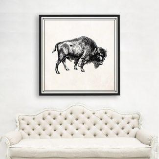 Bull Art Gift, Large Bull Wall