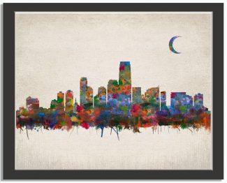 Jersey City New Jersey City Skyline