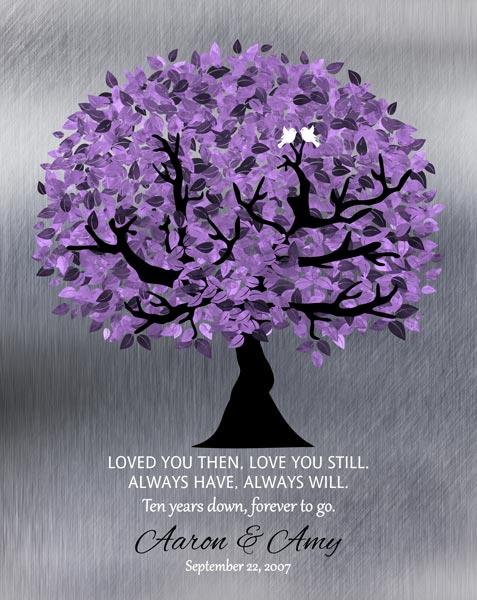 Boss Gift Mentor Teacher Friend Colleague Professor Silver Purple Tree Of Life Gift Personalized For Ann