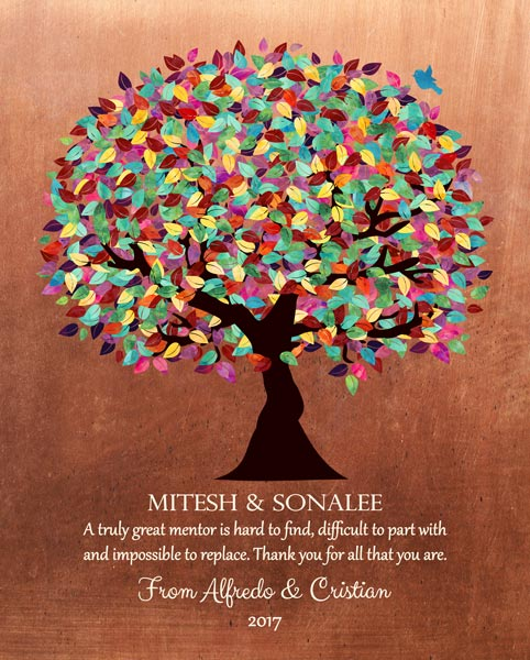 You are currently viewing Thank You Mentor Faux Copper Background Gift Personalized For Cristian
