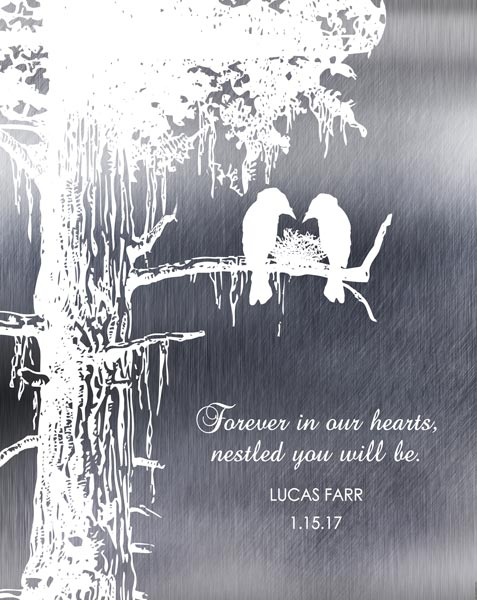 Memorial Plaque Loss of Baby Child Stillborn Nestled In Our Hearts Sympathy Gift Personalized For Dr. & Mrs. Benjamin Farr