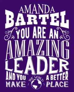 Amazing Leader, Custom Tin Sign, Gift for Mentor, Gift for Leader – personalized for Elizabeth B.