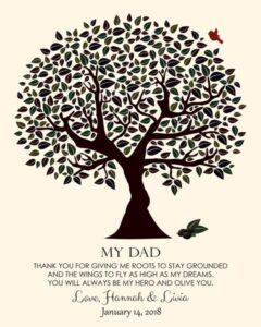 Dad From Daughter Father's Day Birthday Olive You Hero Tree From Son Gift Personalized For Hannah