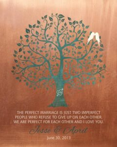 Read more about the article Perfect Marriage Imperfect People Faux Copper Background Gift Personalized For Jesse