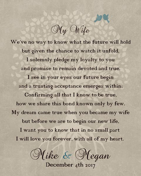 You are currently viewing Thank You For Wife At Wedding Love Poem Gift Personalized For Mike