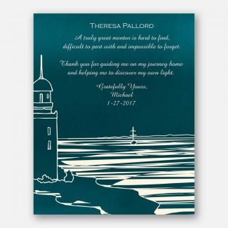 Personalized Mentor Gift, Lighthouse and Shore,
