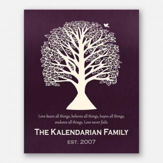 Handcrafted Anniversary Gift, Wedding Gift, Tree