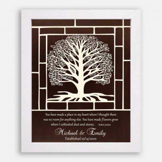 Wedding Anniversary Gift, White Tree With