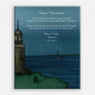 Handcrafted Mentor Gift, Lighthouse, Sea And