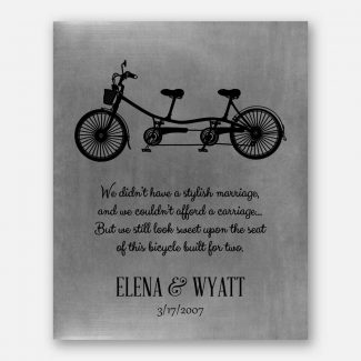 Best Gift For Anniversary, Handcrafted Gift For Couple, A Bicycle & 2 Seats, Personalized Gift With Heartfelt Message For Anniversary, 1024