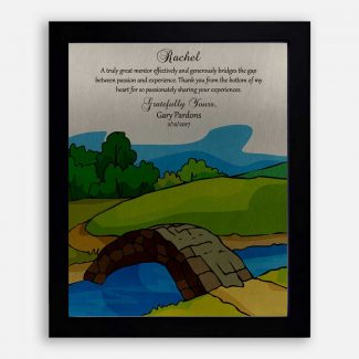 Personalized Gift For Mentor, Bridge The