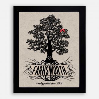 Personalized Family Gift, Oak Tree With