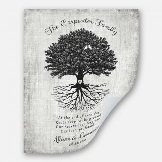Handcrafted Anniversary Gift, Uprooted Tree &