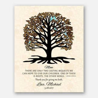 A Personalized Gift For Wife, A Thank You Gift For Wife, A Handcrafted Gift With A Heartfelt Message From Husband With Rooted Tree, 1069