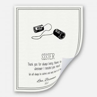 Personalized Gift For Sisters, A Handcrafted
