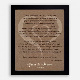 Best Anniversary Gift, A Poem Etched