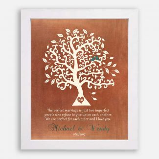 A Perfect Marriage Anniversary Gift, Personalized