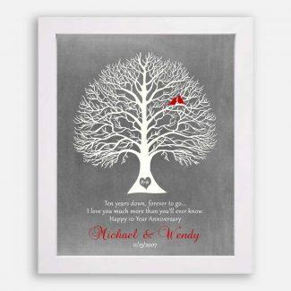 10 Year Anniversary Gift, Wedding Anniversary