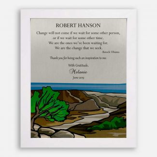 Personalized Gift For Mentor, Leader Gift, Sea Landscape, Inspiration Gift For Teacher, Thank You Gift For Boss, Barack Obama Quote, 1811