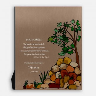 Personalized Teacher Gift, Mentor Gift, Tree,
