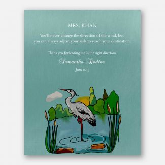 Gift For Leader, Thank You Git For Mentor, Personalized Teacher Gift, Boss Git, Pond, Stroke, Insipirational Quote, Gift From Mentee, 1826