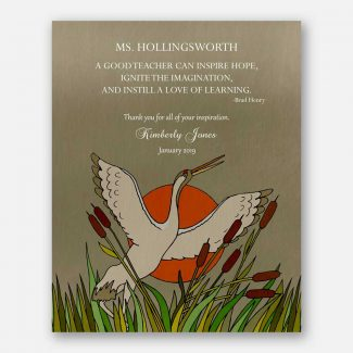 Thank You Gift For Teacher, Personalized Leader Gift, Gift For Mentor, Gift For Boss, Brad Henry Quote, Sun, Bird, Retirement Gift, 1827
