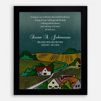 Personalized Sympathy Gift, Loss Of Wife,