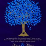 Bride's Mother Groom To Parents Blue Oak Family Tree Wedding Poem Thank You Gift – Personalized For Cherry