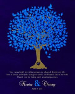 Read more about the article Bride's Mother Groom To Parents Blue Oak Family Tree Wedding Poem Thank You Gift – Personalized For Cherry