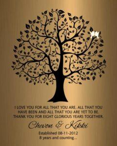 Personalized 8 Year Anniversary Gift Custom Art Proof for Chevon G.