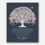 Mother of Groom I Knew The Day I Met Him Pale Purple Canopy Leaves With Dark Slate Background #CWA-1002