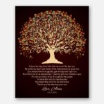 Mother of Groom I Knew The Day I Met Him Fall Canopy Leaves With Brown Background #CWA-1008
