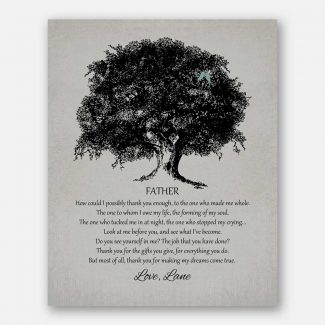 Father of Bride Large Oak Tree