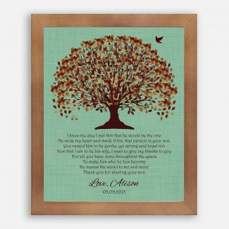Mother of Groom Parents I Knew The Day I Met Him Fall Tree Canopy on Green Background #CWA-1011