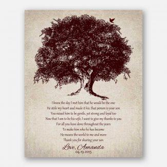 Mother of Groom Large Brown Oak