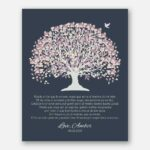 Mother of Groom Father Parents in Spanish Pale Purple Canopy Leaves on Dark Slate Background #CWA-1020