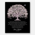Mother of Groom Parents Pale Purple Canopy Leaves With Purple Trunk And Black Background I Knew The Day I Met Him #CWA-1024